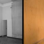 Sala biliardo, prima - dopo l'intervento
