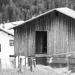 Tabià, external view facade towards mountain