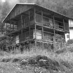 External view facade toward valley
