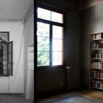 Double bedroom, before and after restoration