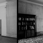 Billiard room, before and after restoration