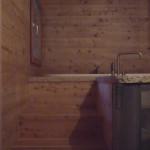 Loft bathroom, access to bath, detail
