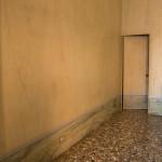 Billiard room, marmorino flooring discovered during restoration, detail
