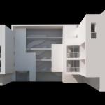 Main facade, model