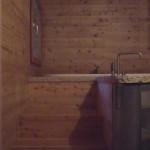 Bagno sottotetto, particolare accesso al piano vasca