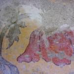 Detail fresco decoration