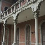 Vista prospettica del portico dopo il restauro