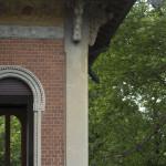 Particolare, facciata principale dopo il restauro