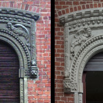 Detail decorated window before:after restoration