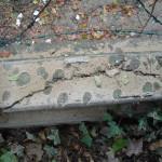 Cracks, detail balustrade
