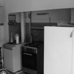 Vista prospettica zona cucina-pranzo