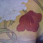 Particolare, decorazione a secco