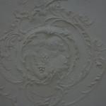 Particolare decorazione a stucco, soffitto camera matrimoniale