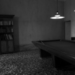 Sala biliardo, vista prospettica