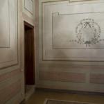 Camera matrimoniale, decorazioni parietali emerse durante l'intervento di restauro