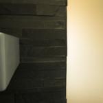 Dettaglio, porta d'ingresso doccia e parete