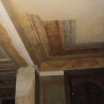 Particolare, soffitto della sala camino