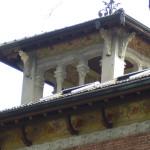 Torre, particolare fregio dopo il restauro
